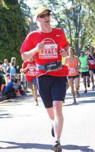 ESFP team member running 1/2 marathon