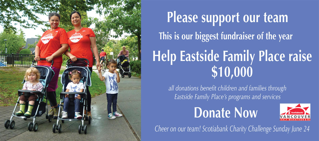 Eastside Strollers Scotiabank Charity Challenge fundraiser
