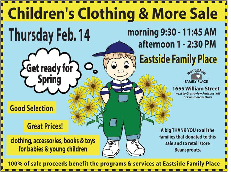 Feb 14 ESFP's Clothing Sale Poster